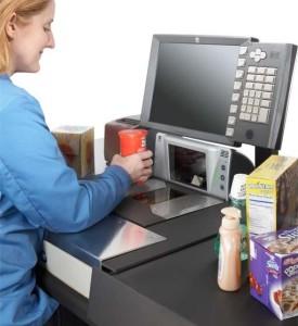 кассовые весы, стационарный сканер штрих-кода, биоптический сканер, NCR 7874